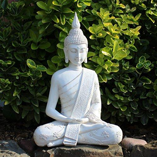 Thai Buddha Weiß Statue groß 40 cm - 4