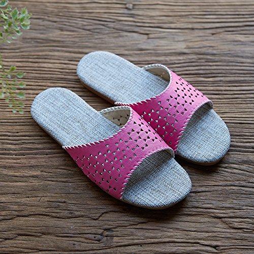lino pantofole, amanti a casa, la parola ,38 e 39 viola - 37 giorni blu