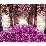 murando - Fototapete Weg 350x256 cm - Vlies Tapete - Moderne Wanddeko - Design Tapete - Wandtapete - Wand Dekoration - Blumen Bäume c-A-0031-a-d