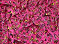 Rollschuhe Print Weiche Baumwolle Velours Kleid Stoff pink-Meterware
