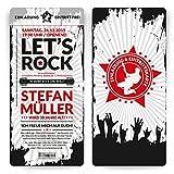 Einladungen (40 Stück) Rock and Roll Eintrittskarten Tickets Einladungskarten mit Abriss