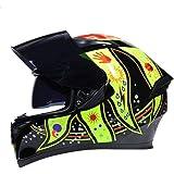 Cascos Integrales De Invierno Casco Modular De Carreras De Motos con Seguridad De Doble Lente Casco Protector De Moto De Colo