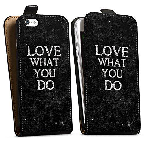 Apple iPhone X Silikon Hülle Case Schutzhülle Love Liebe Sprüche Downflip Tasche schwarz