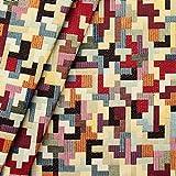 Gobelin Möbelstoff Dekostoff Puzzle Meterware Multicolor