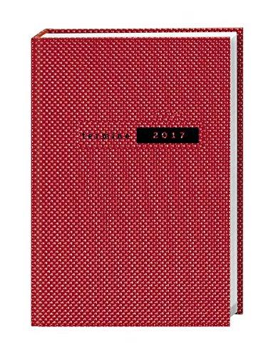 Terminer A5, Struktur rot - Kalender 2017