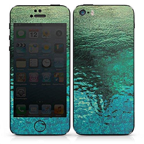 Apple iPhone SE Case Skin Sticker aus Vinyl-Folie Aufkleber Wasseroberfläche See Wasser DesignSkins® glänzend