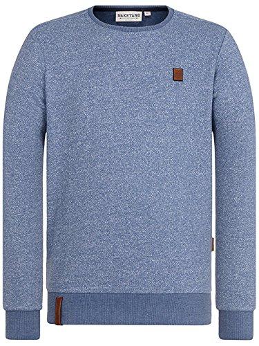 Naketano Male Sweatshirt Tadellos abgespritzt III pablo powder blue melange