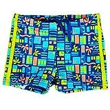 adidas Kinder Baby INFINITEX Badehose Schwimmhose Jungen Bade Shorts Blau GRÜN, Größe:80, Farbe:Mehrfarbig