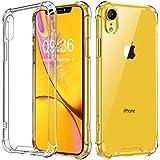 Babacom Funda para iPhone XR, Transparente Carcasa para iPhone XR Absorcion de Choque Cojín de Esquina Parachoques con PC Dur