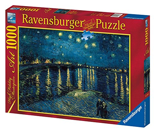 Ravensburger 15614 Puzzle Arte Van Gogh: Notte Stellata, 1000 Pezzi