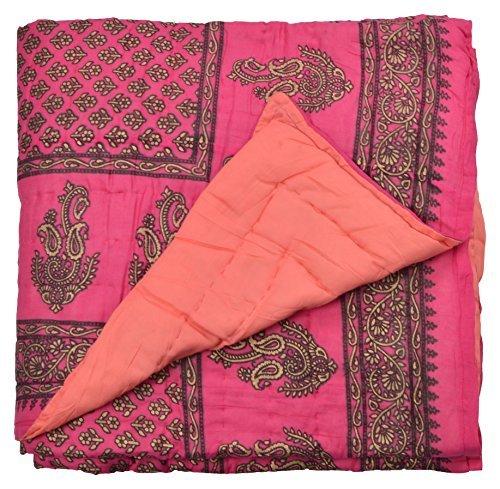 Avighna Jaipuri Rajai 100% Cotton Single Quilt - Multicolor
