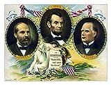 John Parrot/Stocktrek Images – Vintage print of Presidents James Garfield Abraham Lincoln and William McKinley. Photo Print (81,28 x 61,98 cm)