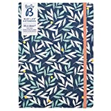 Busy B Notizbuch für Vielbeschäftigte - A5, Blumen, mit Stickern und Monatsplaner