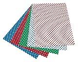 folia 5909 Fotokarton mit Punkten (50 x 70 cm, 10 Bogen) sortiert