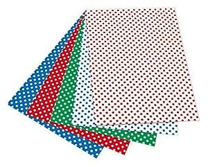 Folia 5909-Cartulina con Puntos, 50x 70cm, 10Hojas, Surtidos