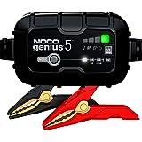 Noco GENIUS5EU, 5-förstärkare, helautomatisk intelligent laddare, 6V och 12V laddare, pipeladdare och batteridesulfator med t