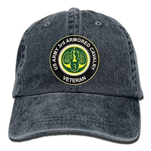 AOHOT Herren Damen Baseball Caps,Hüte, Mützen, Classic Baseball Cap, US Army Veteran 3rd Armored Cavalry Women's Baseball Cap Retro Sun Visor Trucker Hat (Ll Cool Halloween J)