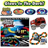 #5: Fantasy India 165 Pieces DIY Magic Tracks Flexible Bendable Dark Glow Assembling Racetrack Set with LED Flashing Race Cars Gift for Boys Girls Kids Birthday