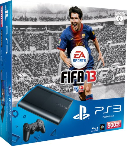 PlayStation 3 - Konsole Super Slim 500 GB (inkl. DualShock 3 Wireless Controller + FIFA 13) (Ps3 Gb Bundle 500)