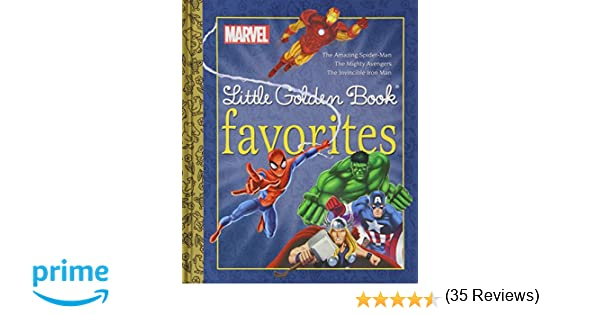 Marvel little golden book favorites the amazing spider manmighty marvel little golden book favorites the amazing spider manmighty ave amazon golden books 9780307976536 books fandeluxe Image collections