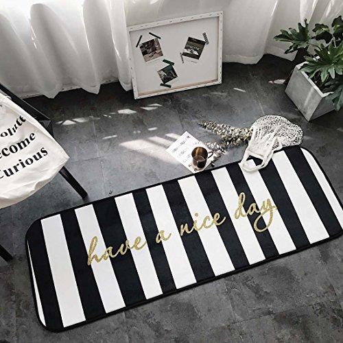 Z&L Home und Küche Teppiche Fußmatte Cool Cat vertikalen Streifen Braun Rutschfeste/Skip Runner Dekorative Eingang Boden Teppich für Bad Schlafzimmer 19''x66'' Nice Day - Wieder Teppich Gummi Läufer