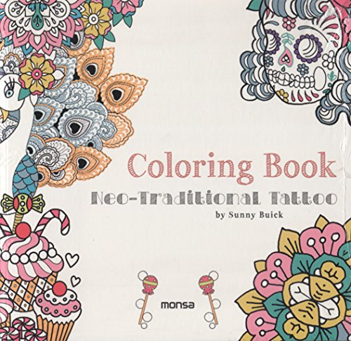 COLORING BOOK. Neo-Traditional tattoo