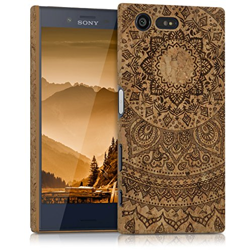 kwmobile Sony Xperia X Compact Hülle - Handyhülle für Sony Xperia X Compact - Handy Case Kork Cover Schutzhülle
