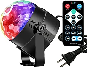 Vnina Disco Ball Dance Party Lights Mini Family Karaoke Decoration 7 Colors Gifts for Kids Birthday Indoor Gatherings Christmas 3 W