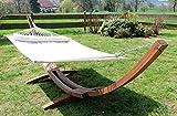 410cm XXL Luxus Hängemattengestell LIMITED EDITION XXL aus Holz Lärche