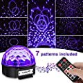 Disco Lights SOLMORE UV Lights Disco Ball Light 9W Stage Lighting DJ Lights Music Activated for Children Home Party DJ Karaoke Wedding Show Club Pub Christmas Festival Birthday Indoor Decoration U disk/USB interface (with remote and music player)