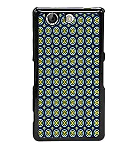 Circular Pattern 2D Hard Polycarbonate Designer Back Case Cover for Sony Xperia Z4 Compact :: Sony Xperia Z4 Mini