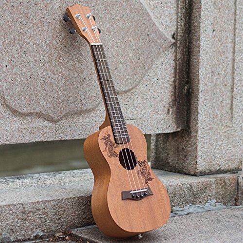 LINGZHIGAN 23 Zoll Ukulele handgemachte Mahagoni Ukulele Anfänger kleine Gitarre vier String Harfe