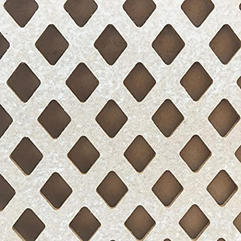 5 PACK - Radiator Cabinet Cover Decorative Screening Perforated MDF Mesh Panel Grilles