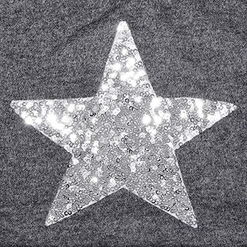 Imagen de dondon mujer gorro de invierno con estrella plata paillettes estrella e forro interior suave  gris alternativa