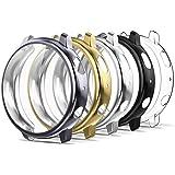 Simpeak 5-pack skärmskydd fodral kompatibelt med Samsung Galaxy Watch Active 2 40 mm, TPU mjukt skärmskydd stötskydd, rosa+ro