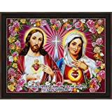 Avercart Sacred Heart Of Jesus Christ / The Immaculate Heart / Mother Mary / Christian Poster 16x12 Inch (40x30 Cm)