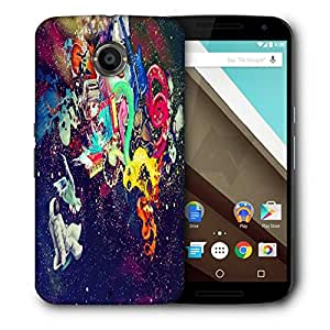 Snoogg Trippy Spaceman Designer Protective Phone Back Case Cover For Motorola Nexus 6