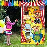 Juegos de Carnival Toss con 3 Bolsa de Frijoles, Juego de Carnaval Divertido para Niños y Adultos en Actividades de Fiesta de Carnaval, Decoraciones y Materiales de Carnaval (Circus Animal)