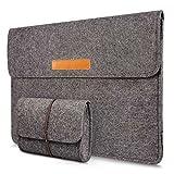 Macbook Air 11 Zoll Filz Sleeve Hülle Ultrabook Laptop Tasche für 11 Zoll Apple Macbook Air, Verschluss mit Klettband, Grau