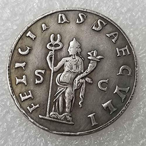 YunBest Alte Römische Münze - Alte Münze zum Sammeln - Philosopher King - Römische Imperium Münzen - antike römische Münze - vergoldet mit 925 Sterling Silber BestShop (Antik-silber-münzen)