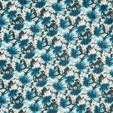 Fabulous Fabrics Crêpe Chiffon Disteln – türkis —