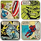 Marvel Comic - Retro Untersetzer 4er Set (Marvel Helden 3)