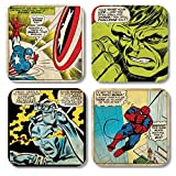 Marvel Comic - Retro Untersetzer 4er Set