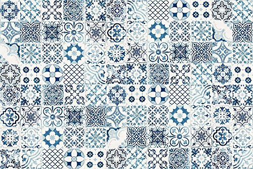 VINILIKO, Alfombra de vinilo, Port Grimaud, Azul, 133x200 cm