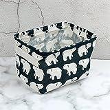 Leisial Aufbewahrungsbox für Baumwolle und Wäsche, Aufbewahrungstasche aus wasserdichtem Material, Griffe beidseitig für Kleidung von Kindern mit niedrigem Alter oder Haustier-Zubehör, style D, 20.5x16.5x13.5cm - 7