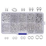 Silber Jewelry Findings Kit Karabinerverschluss, Öffnen Sprung Ringe, Schmucksache Endstück Kette, 710 Stücke