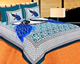 Fresh From Loom 100% Cotton Traditional King Size Double Bedsheet - 100 x 100 inch