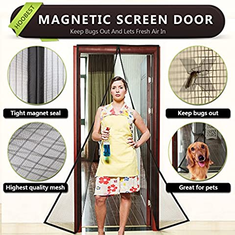 Hoobest Magnetic Fly Screen Door, Heavy Duty Mesh Screen and