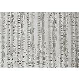 Pergamentpapier mit Notenmuster, A4 21x30 cm, 115 cm, Noten, 10Blatt