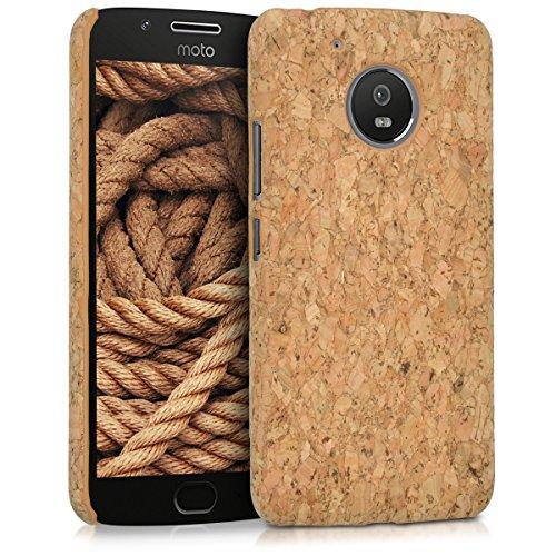 kwmobile Motorola Moto G5 Hülle - Handyhülle für Motorola Moto G5 - Handy Case Kork Cover Schutzhülle